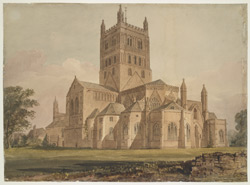 Tewkesbury Abbey, Gloucestershire, 1845